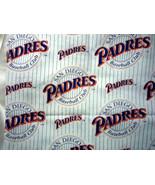 "San Diego Padres VTG Cotton Sports Fabric  FQ 18 "" X  23"" Rare Print - $7.50"
