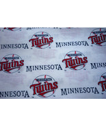 Minnesota Twins Polyester Cotton Fabric Vintage Design Pieces Listed - $3.00