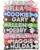 Croc Rhinestone Dog Pet Cat Puppy Personalized Collar Crystal Name size ... - $24.99
