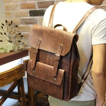 Mens Faux Leather Vintage Backpack Shoulder Bag Messenger Bag Briefcases... - $34.59