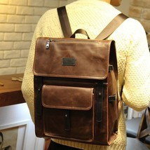 Faux Leather Briefcase School Camping bag Men Messenger Laptop Backpack - $43.04