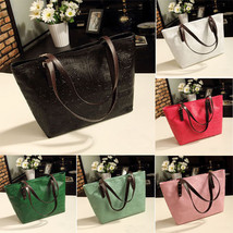 New Womens Embossed Faux Leather Hobo Tote Hand... - $15.19