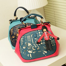 New Womens Floral Hollow Out Pendant Tote Handb... - $23.73