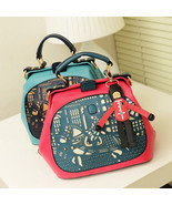 New Womens Floral Hollow Out Pendant Tote Handbag Shoulder Crossbody Doc... - $23.73