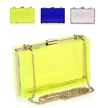 New Womens Transparent Acrylic Perspex Clutch P... - $23.74