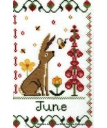 June Holmsey Hare Year Of The Hare cross stitch chart Stitchers Anon Des... - $8.00