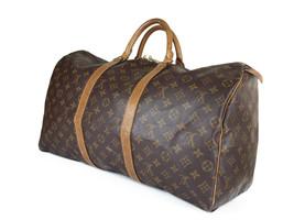 LOUIS VUITTON Vintage Keepall 55 Monogram Canvas Leather Boston Bag LK2786 - $469.00