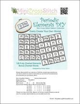 Periodic Elements cross stitch chart Pinoy Stitch - $13.50