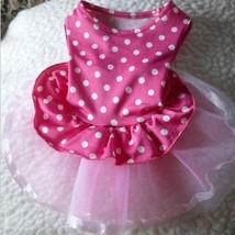 Summer Pet Dog Princess Dress Polka Dot Dress Puppy Clothes Apparel Smal... - $7.58