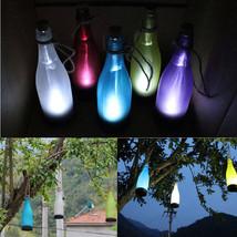 Colors Hanging Solar Powered Bottles LED Light Patio Garden Night Lamp B... - $10.70