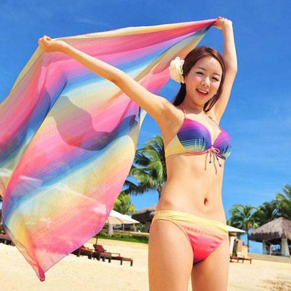 787f9867a75e5 Sexy Women S Bandage Bikini Push-up Padded Bra Swimsuit Bathing Suit  Swimwear