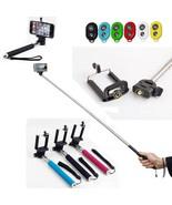 Bluetooth Shutter Selfie Extendable Handheld Stick Monopod for iPhone Sm... - $9.87