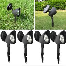 4x Solar Spot Light Outdoor Garden Lawn Landscape LED Spotlight Path Lam... - $21.28