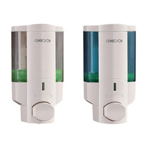 350ml Soap/Shampoo/Sanitizer Dispenser Bathroom Lotion Pump Action Wall ... - $11.39