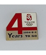 "2008 Beijing Olympic Games Lapel Hat Pin - ""4 YEARS TO GO"" 2004-8-8 - $8.90"