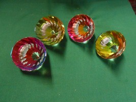 Great Collectible Set of 4 Crystal Diamond Shape LAMP SHADE KNOBS...RARE - €33,91 EUR