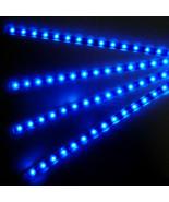 4 X Blue 15 LED 30cm Car Auto Flexible Waterproof Strip Light SMD 12V Sales - $4.33
