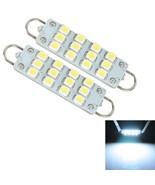 2 X Car 42 44 mm 12 SMD Rigid Loop White Festoon LED Light Bulbs 561 567... - $3.70