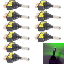 10Pcs 12V 20A Car Motor Auto Green LED Light Toggle Rocker Switch 3Pin - $10.70