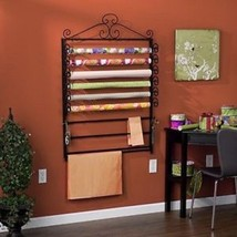 Black Gift Wrapping Paper Craft Station Storage Rack Organizer - $79.17