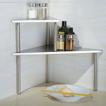 Corner Kitchen Storage Shelf Stainless Steel Or... - $40.56