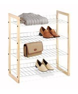 Four Tier Chromed Wire Closet Clothes Storage Organizer Shelves - $30.66