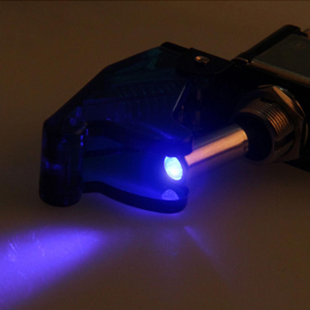 5Pcs 12V Car Blue LED Carbon Fiber Cover SPST Rocker Toggle Switch ON//OFF 3Pin