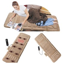 Portable Heat Massage Cushion Mat Vibrating Bed Hot Pad Back Body Massager - $84.12