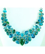 Blue Green Turquoise Chrysocolla and Topaz Ster... - $304.26