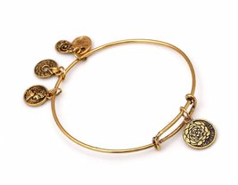 """Antique Gold Tone Expandable Wire Bangle Bracelet with """"My Other Half"""" P... - $19.95"""