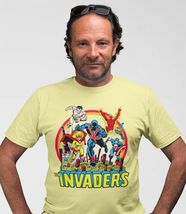 The Invaders T Shirt 1970s vintage WWII  Marvel Comics Union Jack graphic tee YL image 3