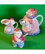 Vintage Otagiri Pig Tea Set, Teapot, Creamer, and Sugar Bowl - $9.95