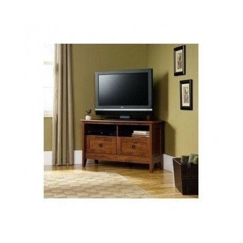 Corner tv stand entertainment center living room furniture for Corner home theater furniture