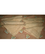 Napkins - set of  8 Linen Napkins - Vintage from the 60's (Peach Color) - $20.00
