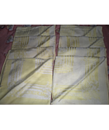 Napkins - set of  8 - Vintage from the 50's (yellow Color) - $17.95