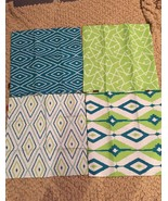 "18""x18"" Set Of 4 Pillow Cases Decorative blue/green theme - $28.04"