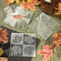 2 Fall Autumn Themed Coasters Leaf Leaves Wedding Reception Favor Gift Party  - $2.65