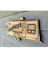 Travel Trailer Custom Personalized Wood Camper Sign RV Family Name Plaque - $65.00