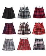 Genetic Women`s Plaid School Uniforms Elasticated Pleated Skirt 14 Color... - $23.75