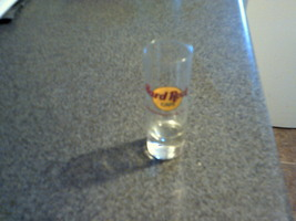 collectable tall clear glass shot glass hard rock cafe washington dc nice  - $12.99