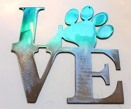 "LOVE My Pet  Teal Tainted Home Wall Decor 6"" x 6"" - $10.88"
