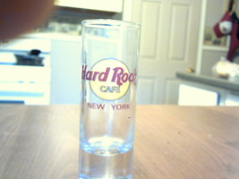 clear collectable glass shot glass hard rock cafe new york souvenir neat  - $12.99