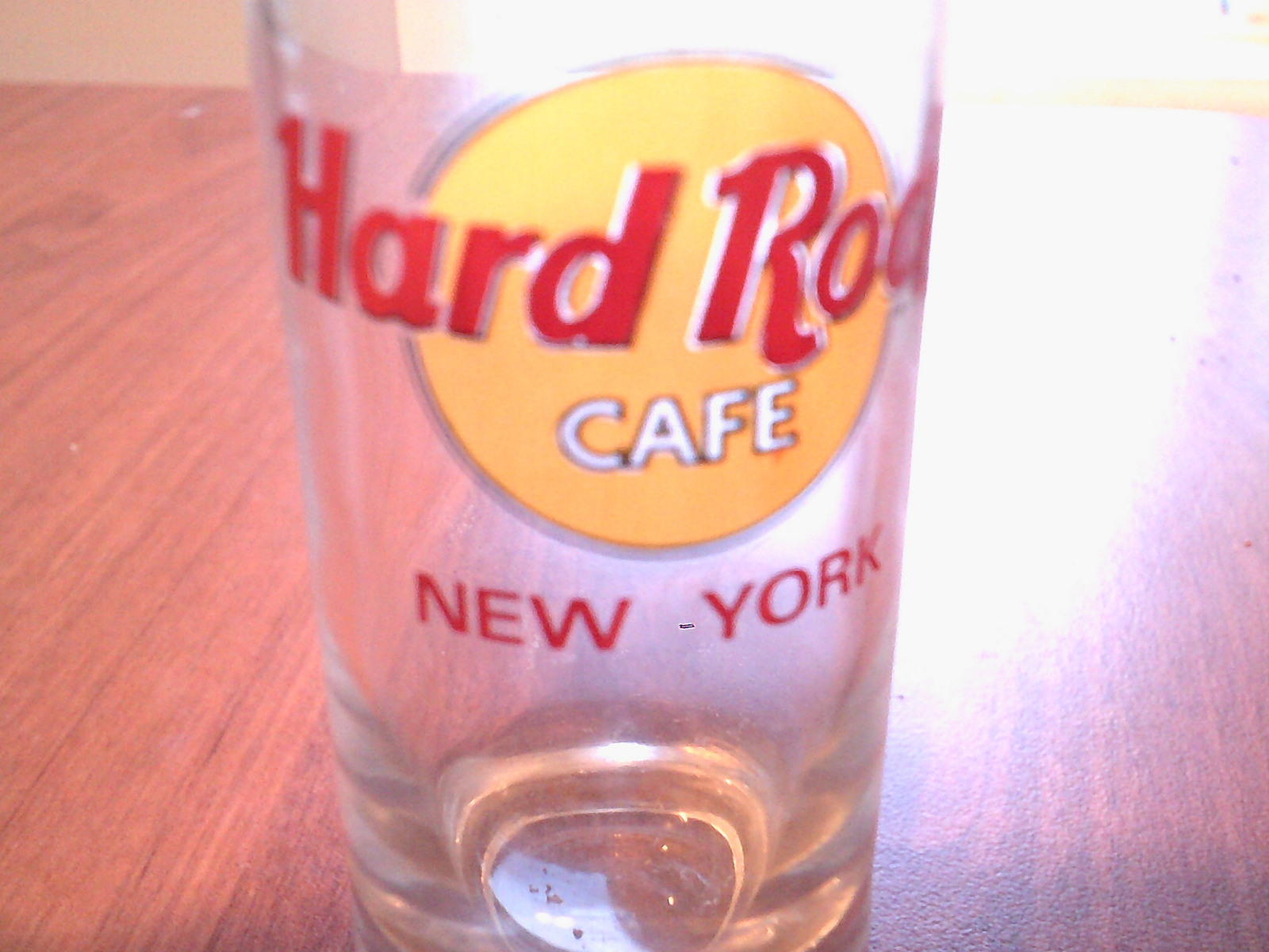 clear collectable glass shot glass hard rock cafe new york souvenir neat