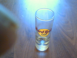 collectable clear glass shot glass hard rock cafe niagara falls tall neat  - $12.99