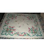 Tablecloth (54 x51) Linen - Vintage  - $17.95