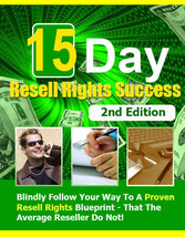 15 Day Resell Rights Success 2nd Edition - EBook - $1.99
