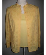 Alfred Dunner  Womans Yellow Twinset Size 10P - $22.00