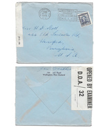 1944 WWII New Zealand Censored Cover to US Censor Tape Motorists Slogan ... - £5.14 GBP