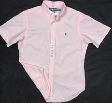 NEW $90 Polo Ralph Lauren Seersucker Shirt! *Classic Fit*  *Short Sleeved* Pink - $47.99