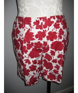 Style & Co Red And White Burmuda Shorts Size 14 - $5.00